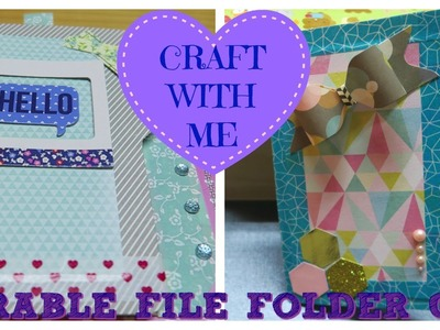 ADORABLE File Folder Card ♥CRAFT WITH ME (Using Envelope Punchboard IDEA)| I'm A Cool Mom