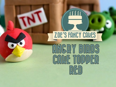 Angry birds Red bird cake topper How to make angry birds cakes red bird flower paste model