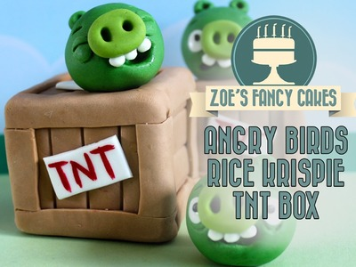 Angry birds TNT box rice Krispie treats angry How to make rice krispie angry birds TNT boxes