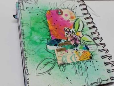 "Art Journal Page ""Express Faith"" (NaNoJouMo2015 Day #14)"