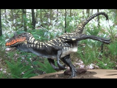 Art Lesson: How to Paint an Allosaurus Model Sculpture  Part 2 of 2