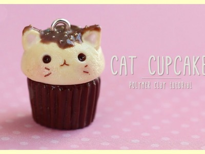 Cat Cupcake Tutorial!   Kawaii Polymer Clay Jewelry