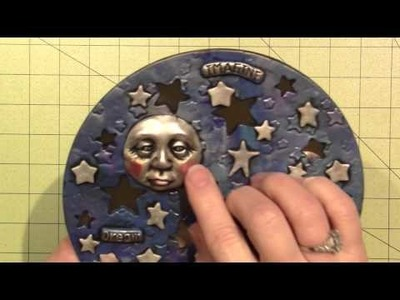 Celestial votive in Polymer clay