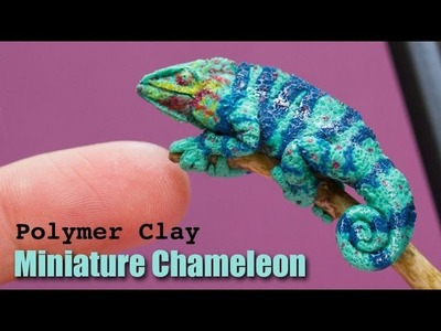 Chameleon Polymer Clay Sculpture. Speed Sculpting in Fimo