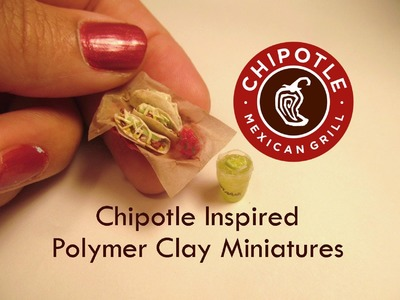 Chipotle Soft Taco and Margarita Polymer Clay Dollhouse Miniature