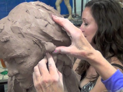 "Cinthia Joyce Sculpting ""The Muse"" in clay"