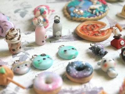 Clay Charm Update! Baymax figurine and galaxy donuts? (#3)