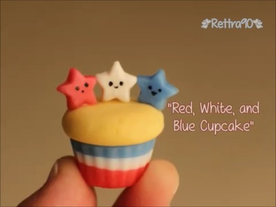 """Cold Porcelain Tutorial: """"Red, White, and Blue Cupcake"""""""