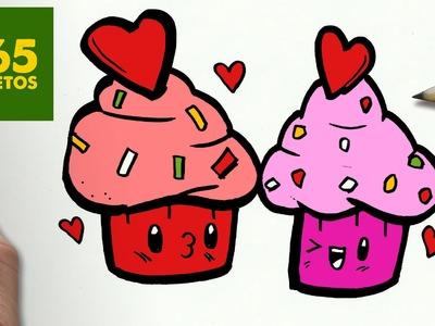 COMO DIBUJAR CUPCAKES KAWAII PASO A PASO - Dibujos kawaii faciles - How to draw a Cupcakes
