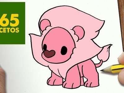 COMO DIBUJAR LEON STEVEN UNIVERSE KAWAII PASO A PASO - Dibujos kawaii faciles - draw Lion