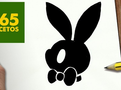 COMO DIBUJAR LOGO PLAYBOY KAWAII PASO A PASO - Dibujos kawaii faciles - How to draw a logo playboy