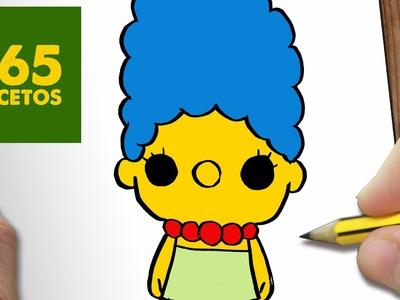 COMO DIBUJAR MARGE SIMPSON KAWAII PASO A PASO - Dibujos kawaii faciles - How to draw a Marge Simpson