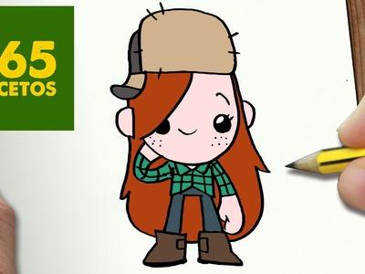 COMO DIBUJAR WENDY DE GRAVITY FALLS KAWAII PASO A PASO - Dibujos kawaii faciles - How to draw  Wendy