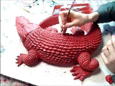 Crocodile bronze sculpture, part 1.2