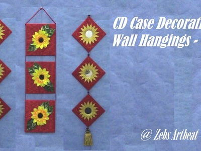 Decorative Wall Hanging DIY ( Recycling Old CD Cases )
