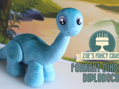 Dinosaur model: How to make a Diplodocus cake topper JURASSIC WORLD INSPIRED