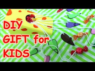 DIY Crafts Funny Gift for Kids Cheese and Mouses
