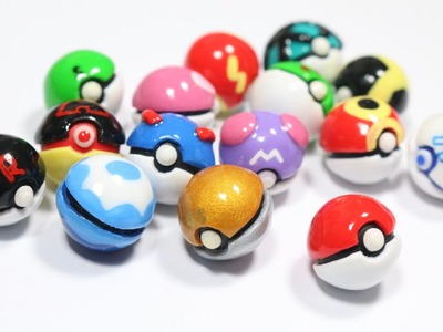 DIY Miniature Pokeball Tutorial: 15 DESIGNS