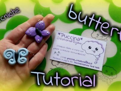 DIY Tutorial Butterfly - Farfalla (Fimo.Polymer Clay)   PuccinaCreation