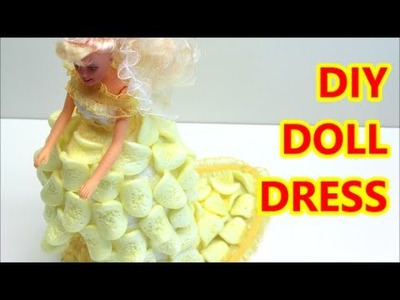 Doll Dress DIY from Plastic Bottle and Packing Chips