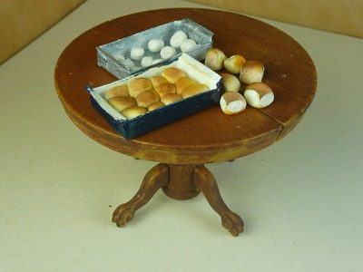Dollhouse Miniature Dinner Rolls
