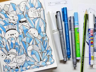Doodling ~ Crystals - ScrawlrBox Challenge [December 2015]