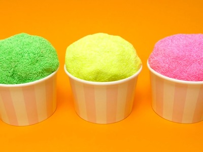Foam Putty Pearl Clay (Floam) with Surprise Egg Toys in Ice Cream Cups