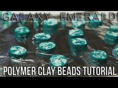 Galaxy Emerald - Polymer Clay Beads Tutorial  ►Laurart◄