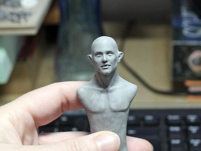 How I paint a polymerclay miniature Vampire [Part 1] ENGLISH