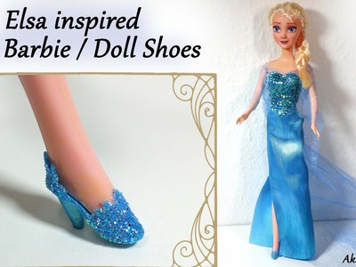 How to; Barbie.Doll Shoes; Elsa inspired (Frozen) Tutorial