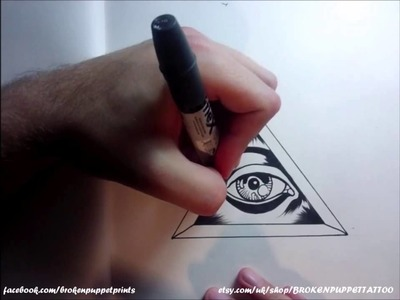 How to Draw an All Seeing Eye By thebrokenpuppet
