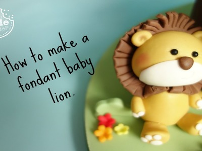 How to make a fondant baby lion