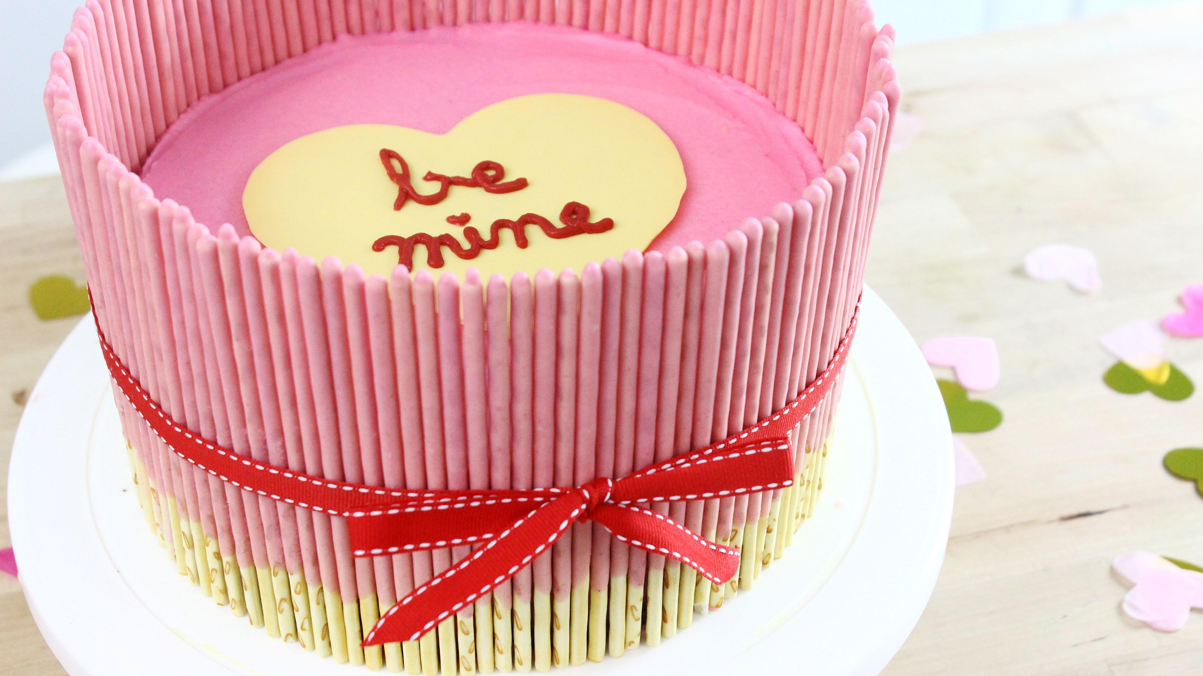 How to Make a Valentine's Day Pocky Cake!