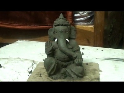 How to make clay Ganesh