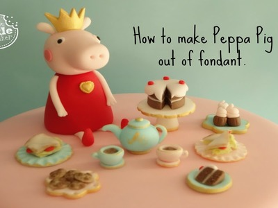 How to make Peppa Pig out of fondant