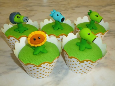 How to make Plants vs Zombies cupcakes (part 1.3). Cupcakes de Plantas Vs Zombies parte 1
