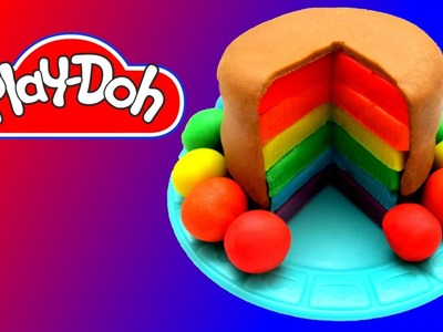 How to make Play Doh Rainbow Cake