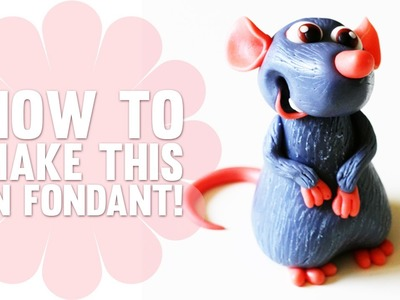 How to make Remy from Ratatouille - Fondant Cake Topper - Cake Decorating Tutorial
