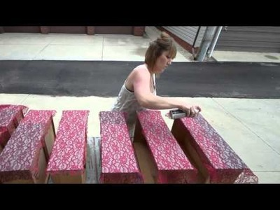 How To Paint A Lace Applique On Chalk Painted Furniture
