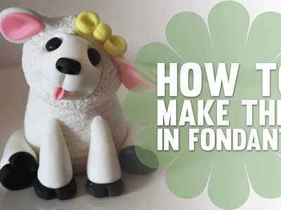 Learn How to Make a cute Fondant (Easter) Lamb - Cake Decorating Tutorial