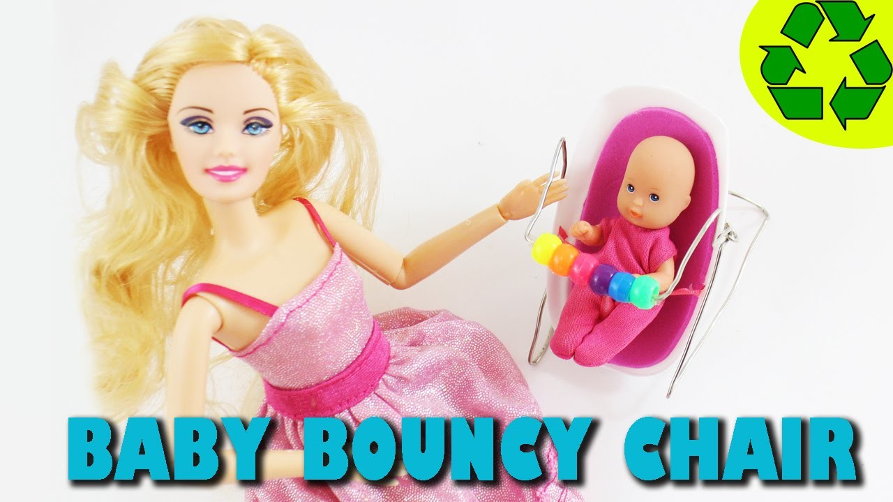 Make a FUNCTIONAL BOUNCY CHAIR for your Doll's baby - Doll Crafts