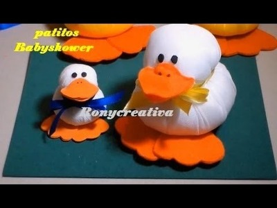 Manualidades para BABY SHOWER - PATITOS de crepe - Ronycreativa