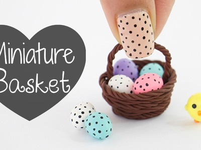 Miniature Easter Egg Basket Using Clay