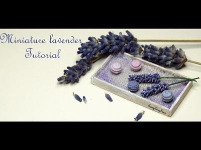 Miniature lavender Tutorial-Polymer Clay