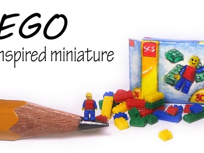 Miniature LEGO Inspired Polymer Clay Tutorial