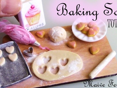 Miniature Polymer Clay Cookie Baking Scene Tutorial