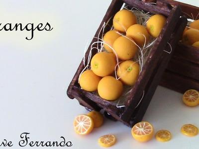 Miniature Polymer Clay Orange Cane Tutorial