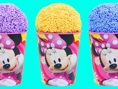 Minnie Mouse Clay Foam Surprise Eggs Ice Cream Cups Disney Minions Shopkins Spongebob
