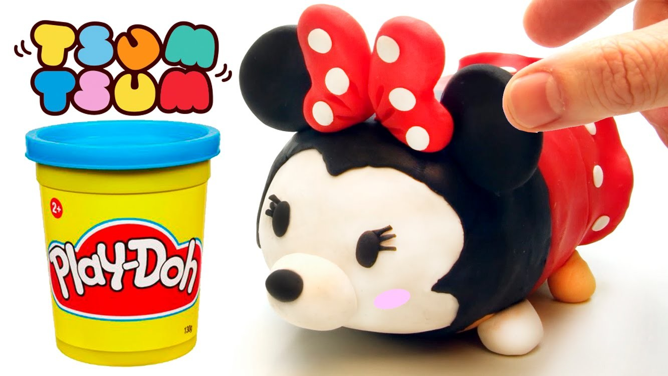 Minnie Mouse Tsum Tsum play doh stop motion claymation plastilina disney