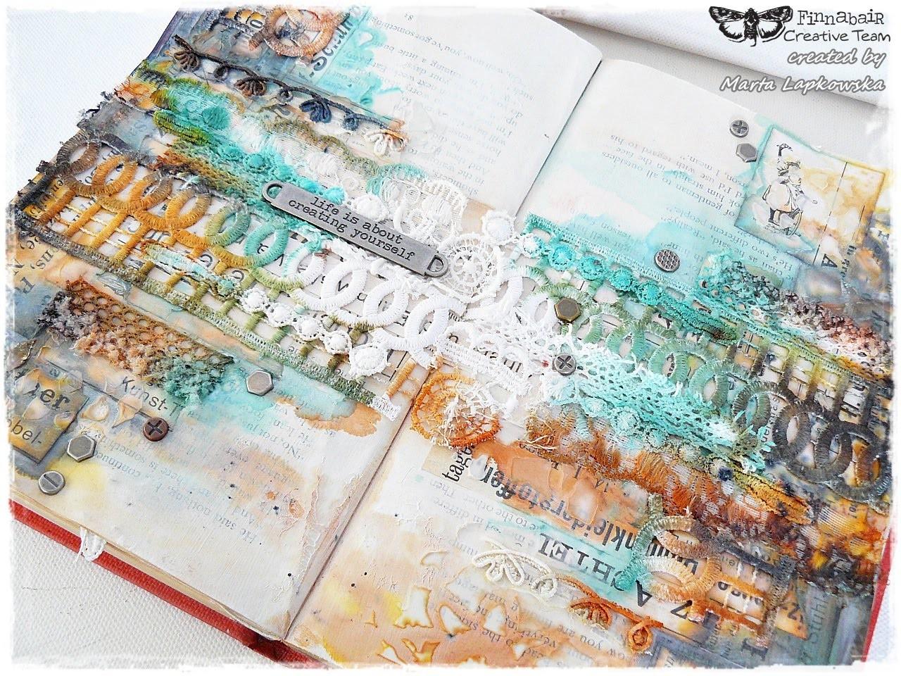 Mixed media art journal for Finnabair tutorial